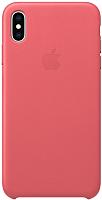 Чехол-накладка Apple Leather Case для iPhone XS Max Peony Pink / MTEX2 -