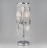Прикроватная лампа Евросвет Flower 01035/2 (хром/прозрачный хрусталь) -