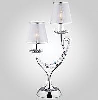 Прикроватная лампа Евросвет Gloria 01069/2 (хром/прозрачный хрусталь) -