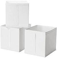 Набор коробок для хранения Ikea Скубб 003.750.65 (белый) -