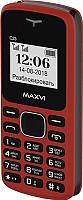 Мобильный телефон Maxvi С23 (красный/черный) -