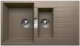 Мойка кухонная Tolero TL-860 (темно-бежевый) -