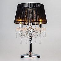 Прикроватная лампа Евросвет Allata 2045/3T (хром/черный) -