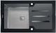 Мойка кухонная Tolero TG-860 (черное стекло) -