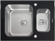 Мойка кухонная Tolero TGR-660K (черное стекло) -