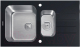 Мойка кухонная Tolero TGR-860K (черное стекло) -