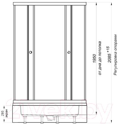 Душевой уголок Triton Стандарт В 100x100 (квадраты)