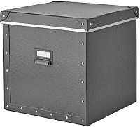Коробка для хранения Ikea Фьелла 004.040.20 (темно-серый) -