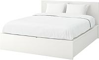 Двуспальная кровать Ikea Мальм 004.048.07 (белый) -