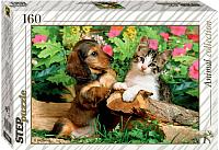 Пазл Step Puzzle Верные друзья! / 72054 (160эл) -