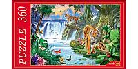 Пазл РЫЖИЙ КОТ Тигры у водопада / МГ360-4002 (360эл) -