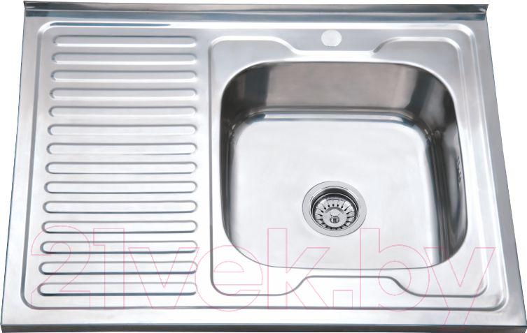 Купить Мойка кухонная РМС, MD6-8060R, Россия, нержавеющая сталь