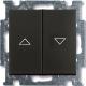 Выключатель ABB Basic 55 1413-0-1098 (шато-черный) -