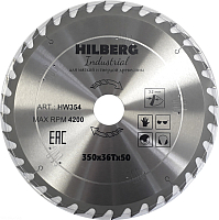Пильный диск Hilberg HW354 -