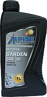 Моторное масло ALPINE Garden SAE 30 4-Takt Rasenmahermotorenol / 0100541 (1л) -