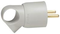 Вилка штепсельная Legrand 2Р+Е 16А / 50192 (серый) -