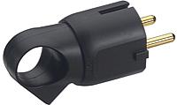 Вилка штепсельная Legrand 2Р+Е 16А / 50194 (черный) -