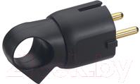 Вилка штепсельная Legrand 2Р+Е 16А / 50194 (черный)