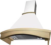 Вытяжка купольная Elikor Ротонда 90П-650-П3Д / 941556 (бежевый/дуб неокрашенный) -