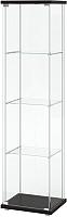 Шкаф-пенал с витриной Ikea Детольф 703.833.59 -