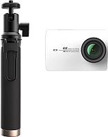 Экшн-камера YI 4K Action Camera (с моноподом, белый) -