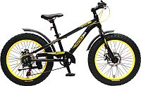 Велосипед Forsage Фэтбайк FB20005 (черный/bumble bee) -