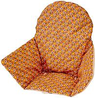 Чехол на стульчик для кормления Polini Kids Antilop лимончики (коричневый) -
