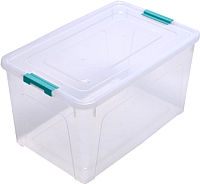 Контейнер для хранения Алеана Smart Box 123085 (бирюзовый/прозрачный) -