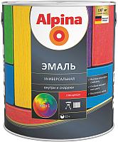 Эмаль Alpina Универсальная (750мл, черный глянцевый) -