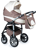 Детская универсальная коляска Alis Berta 2 в 1 (be01, бежевый/светло-бежевый) -