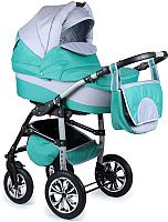 Детская универсальная коляска Alis Berta 2 в 1 (be08, зеленый/светло-серый) -