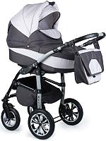 Детская универсальная коляска Alis Berta 2 в 1 (be11, темно-серый/светло-серый) -