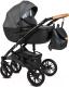 Детская универсальная коляска Alis Camaro 2 в 1 (cm02, черный узор/черная кожа) -