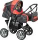 Детская универсальная коляска Alis Amelia I (am12, серый/оранжевый) -