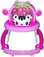 Ходунки Alis Счастливый малыш 8 / MLT-615A (розовый) -