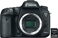 Зеркальный фотоаппарат Canon EOS 7D Mark II + Wi-Fi-адаптер W-E1 (9128B157AA) -