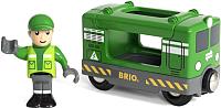 Элемент железной дороги Brio Грузовой вагон с машинистом 33894 -