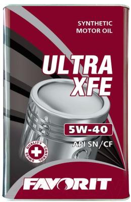 Моторное масло Favorit Ultra XFE 5W40 API SN/CF Metal / 54706 (4л)