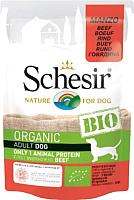 Корм для собак Schesir Bio с говядиной (85г) -