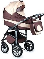 Детская универсальная коляска Alis Berta 2 в 1 (be03, коричневый/светло-бежевый) -