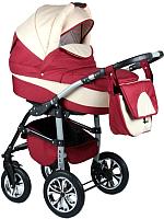Детская универсальная коляска Alis Berta 2 в 1 (be04, красный/бежевый) -