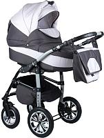 Детская универсальная коляска Alis Berta F 3 в 1 (be11, темно-серый/светло-серый) -