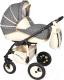 Детская универсальная коляска Alis Mateo 17 2 в 1 (ma24, серый/белый) -