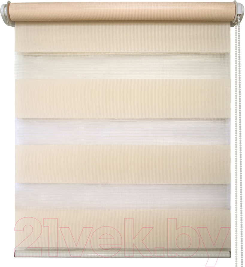 Купить Рулонная штора АС ФОРОС, Кентукки 8928 78x160 (светло-бежевый), Россия, ткань