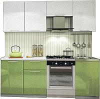 Готовая кухня Интерьер центр Олива 2.1 (зеленый/белый) -