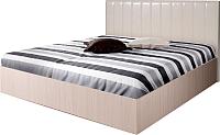 Двуспальная кровать Мебель-Парк Аврора 1 200x180 (светлый) -