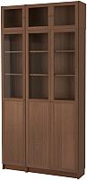 Шкаф с витриной Ikea Билли/Оксберг 392.435.59 -