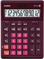 Калькулятор Casio GR-12C-WR-W-EP (бордовый) -