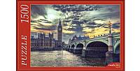 Пазл РЫЖИЙ КОТ Лондон. Закат Над Биг-Беном / ГИ1500-8456 (1500эл) -