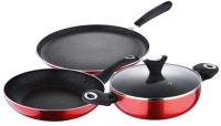 Набор кухонной посуды Wellberg WB-2686-RD (красный) -
